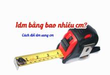 1dm bằng bao nhiêu cm