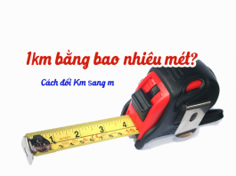 1km bằng bao nhiêu mét